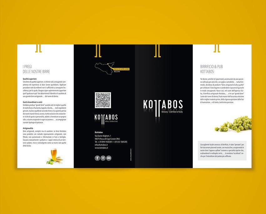 progettazione depliant birre kottabos birrificio artigianale siciliano