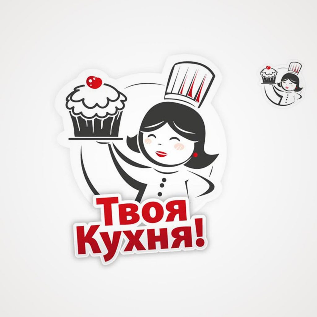 urso creazione logo pasticceria russa