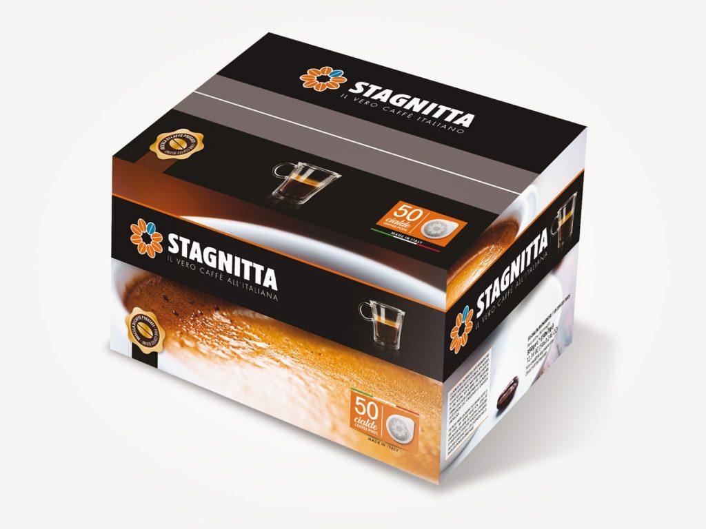 Progettazione packaging multipack cialde caffè per conto di Stagnitta Caffè Palermo Sicilia Italia
