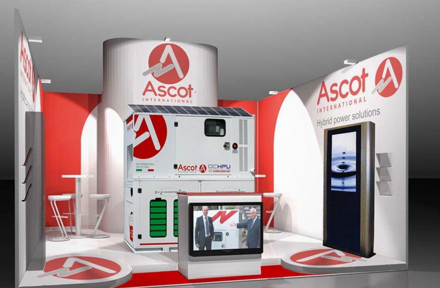 Progettazione grafica per stand fieristico per Ascot International Sicilia Italia