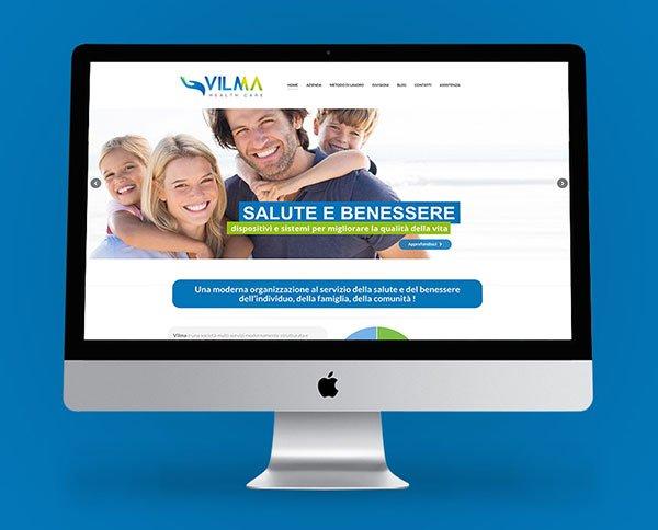 Creazione sito web per azienda di servizi vilma sas