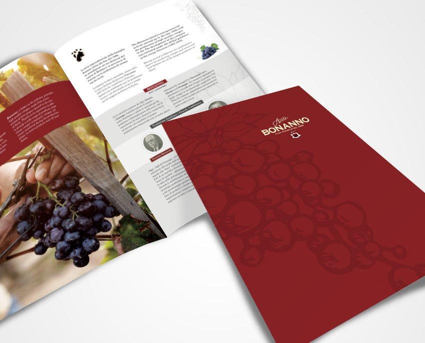 Progettazione grafica company profile e catalogo prodotti aceto Bonanno 2019 Palermo Sicilia Italia