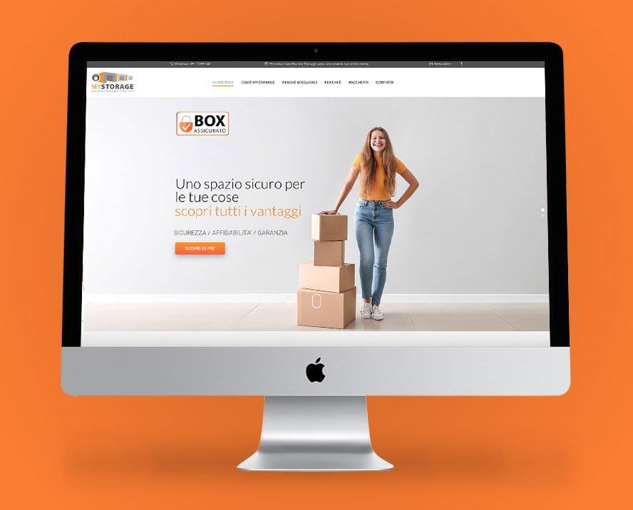progettazione sito web monopagina per MyStorage affitto magazzini temporanei Palermo Sicilia