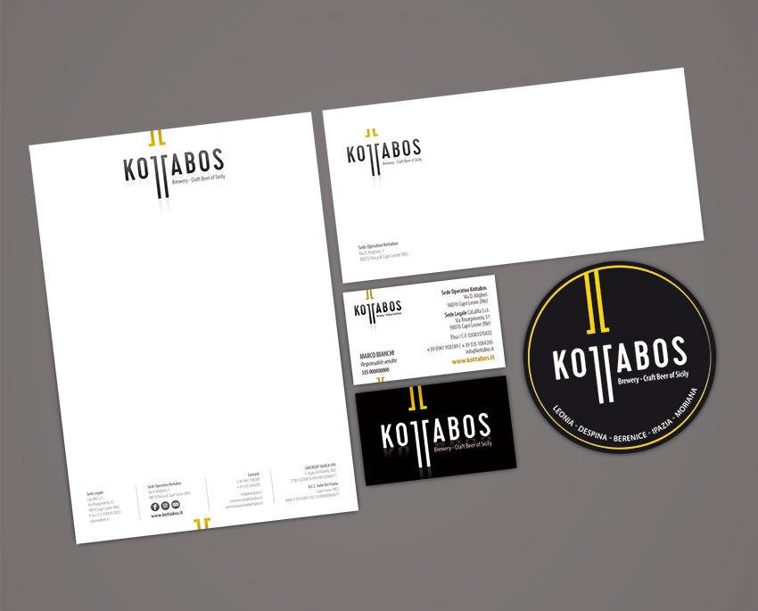 progettazione brand identity Kottabos birrificio artigianale sicilia